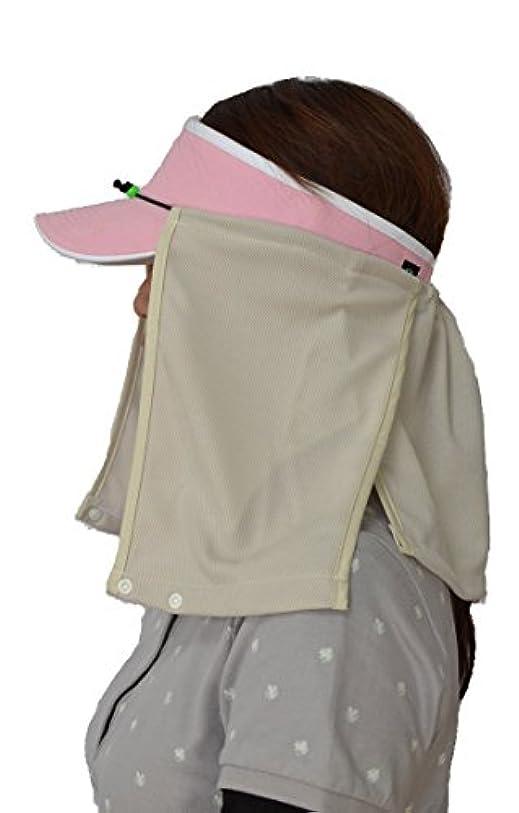 馬鹿ワーディアンケース伝染病UVカット帽子カバー?スズシーノ?(ベージュ)紫外線対策や熱射病、熱中症対策に最適【特許取得済】