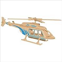 3dジグソーパズル木製ヘリコプター飛行機型男の子女の子Play Game Set