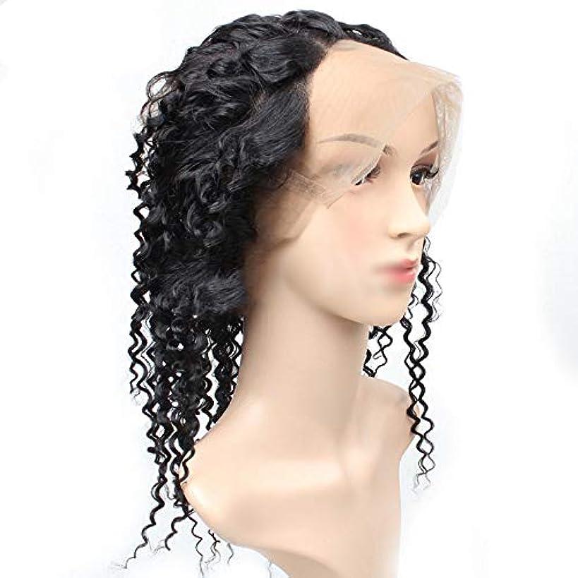 部屋を掃除するしかしながら排気BOBIDYEE 360レース前頭閉鎖変態カーリーヘアーフルレース人毛ナチュラルカラー髪の織り横糸(8 '' - 22 ''、100g /個)合成髪レースかつらロールプレイングウィッグロング&ショート女性自然 (色 :...