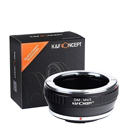 K&F Concept® マウントアダプター マイクロフォーサーズ OMマウントレンズ- マウントボディ用 Olympus OMレンズ- Micro 4/3カメラ装着用レンズアダプター OM-M4/3
