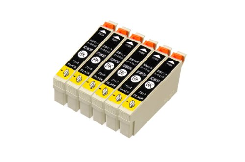 mita エプソン ICBK50 互換インク 6個パック(ブラック)
