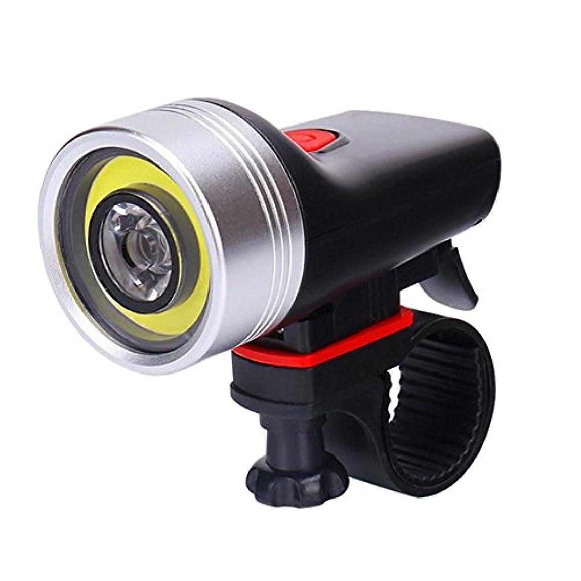 ソケット代表団創傷K-outdoor 自転車ヘッドライト usb 充電式 自転車ランプ ライディング装備 アウトドア 警告灯