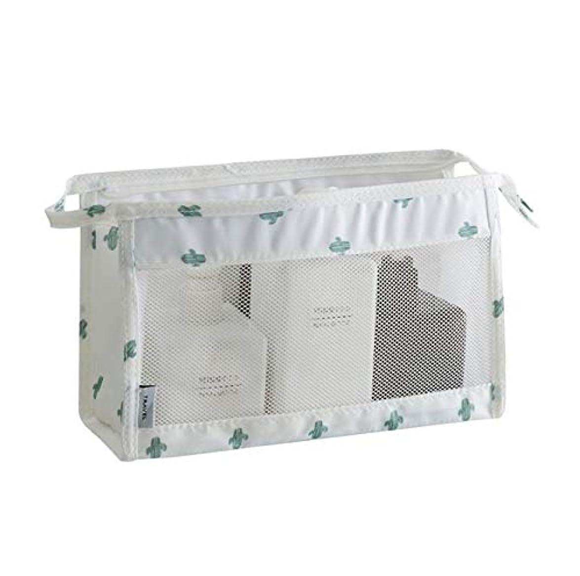 商標略す偶然のKTH 化粧バッグ、旅行用収納バッグ、ポータブルハンギング防水ウォッシュバッグ、メンズとレディースウォッシュバッグ (Color : ホワイト)