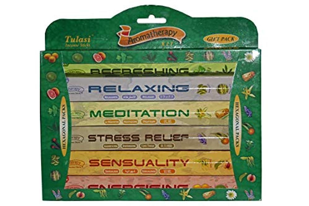 失速エンジン変換Incense Variety - Stress Relief - Tulasi Aromatherapy Large Gift Pack