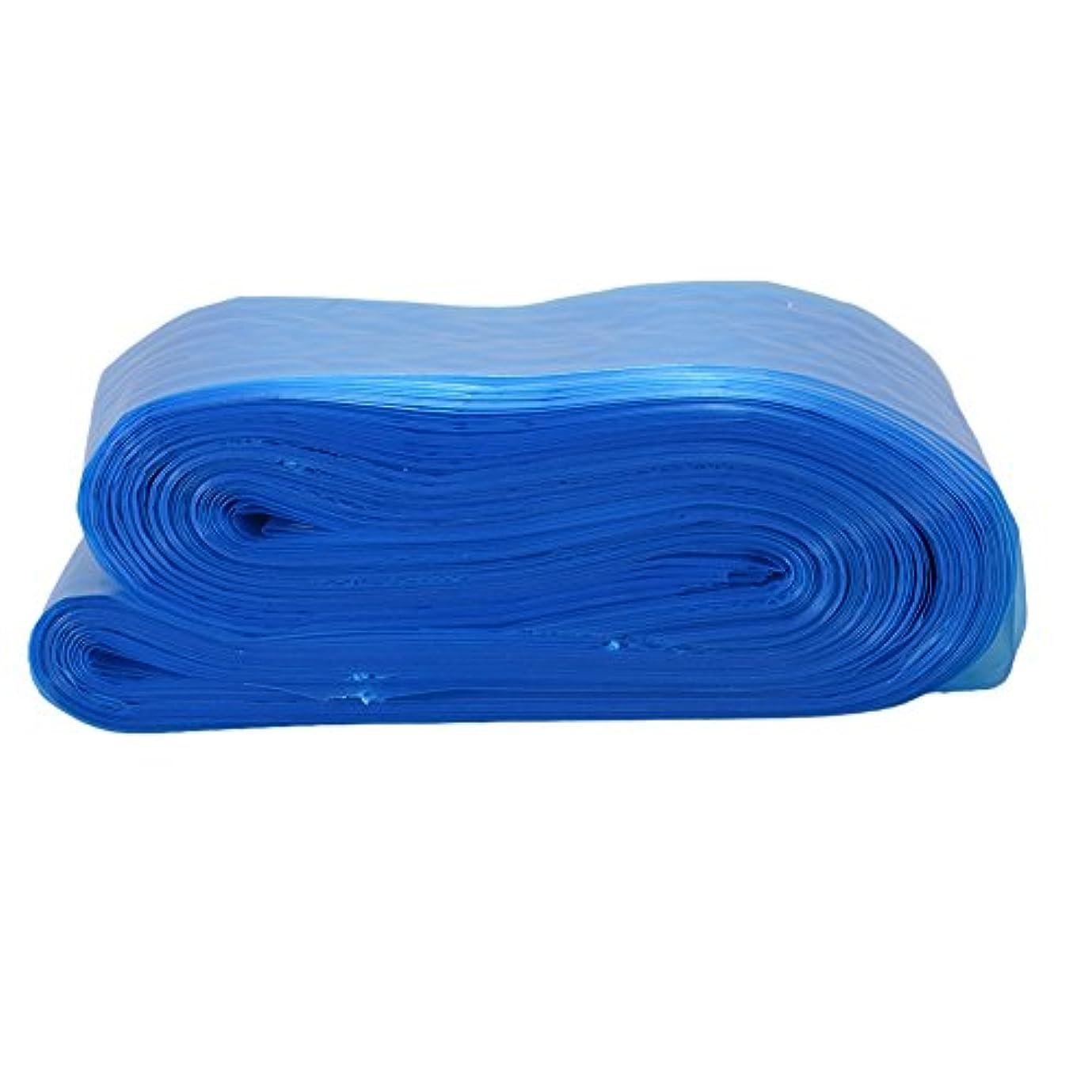 ボア縞模様のローラーRaiFu タトゥークリップカバー バッグ タトゥーアクセサリー コード スリーブバッグ タトゥーマシンのため 使い捨て プロフェッショナル ブルー 100PCS/パック