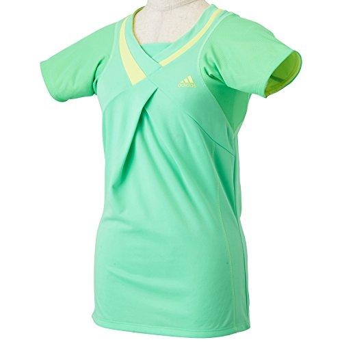 (アディダス)adidas テニス フルール 半袖ドレープ Tシャツ JMJ05 [レディース] S13542 ライトフラッシュグリーンS15 J/L