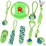 Dog Puppy Toys 9 Packs, Puppy Chew Toys Game Time and Teeth Cleaning, IQ Treats Ball Toys and Dog Frisbees Including Puppy Teething Toys Small and Medium-Sized Dogs