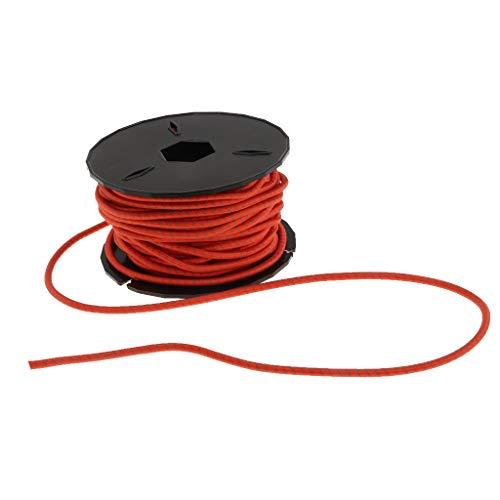 3mm ヘビーデューティー ゴムコア ポリエステル 弾性ロープ バンジーロープ ショックコード 全4色