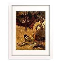 ポール・ゴーギャン Eugène Henri Paul Gauguin 「Bretonische Knaben beim Bad. 1888.」 額装アート作品