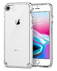【Spigen】 iPhone8 ケース   iPhone7 ケース, [ 米軍MIL規格取得 Qi 充電 対応 落下 衝撃 吸収 ] ウルトラ・ハイブリッド2 アイフォン 8   7 用 耐衝撃カバー (iPhone8   iPhone7, クリスタル・クリア)