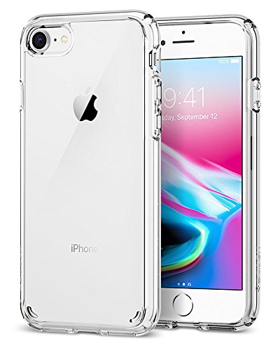 【Spigen】 iPhone8 ケース / iPhone7 ケース, [ 米軍MIL規格取得 Qi充電対応 落下 衝撃 吸収 ] ウルトラ・ハイブリッド2 アイフォン 8 / 7 用 耐衝撃カバー (iPhone8 / iPhone7, クリスタル・クリア)