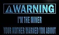 LED看板 ネオンプレート サイン 電飾・店舗看板・標識・サイン カフェ バー ADV PRO m994-b Warning I'm the miner Neon Light Sign