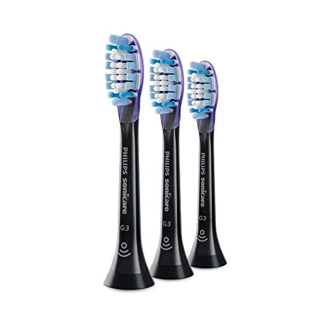 宿るパズルダンスPhilips HX9053 Sonicare G3 Premium GumCare 標準のソニック歯ブラシヘッド Black [並行輸入品]