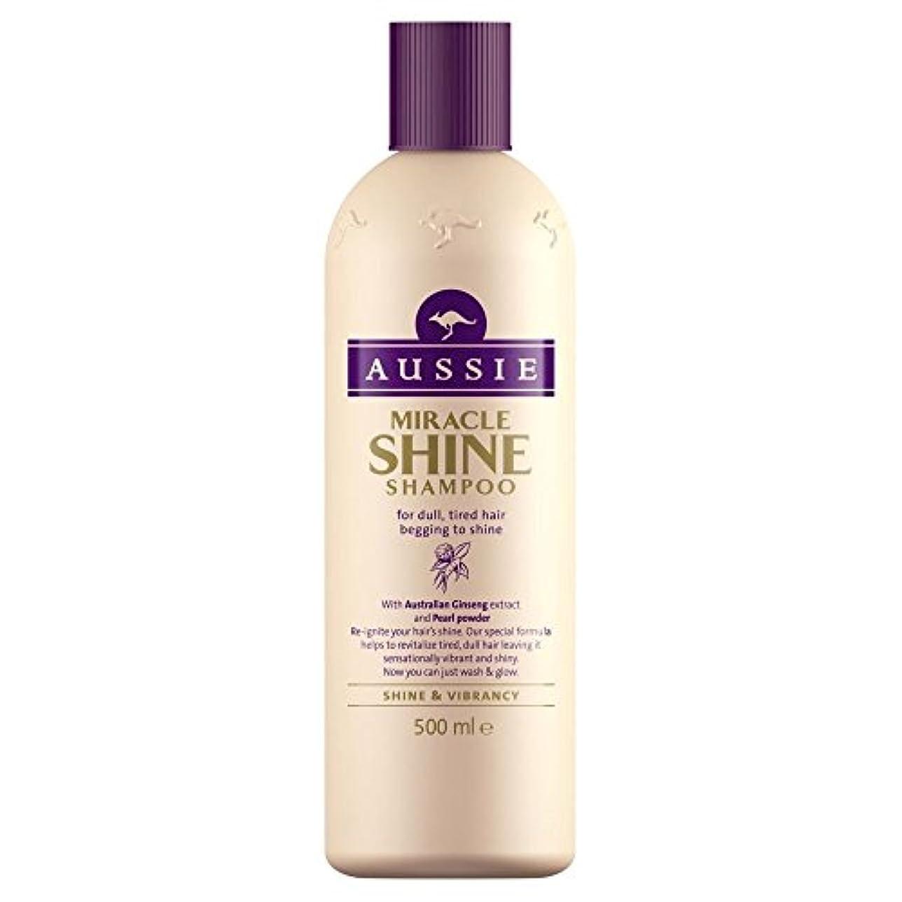 大気悲鳴湿地Aussie Miracle Shine Shampoo (500ml) オージー奇跡の輝きシャンプー( 500ミリリットル) [並行輸入品]