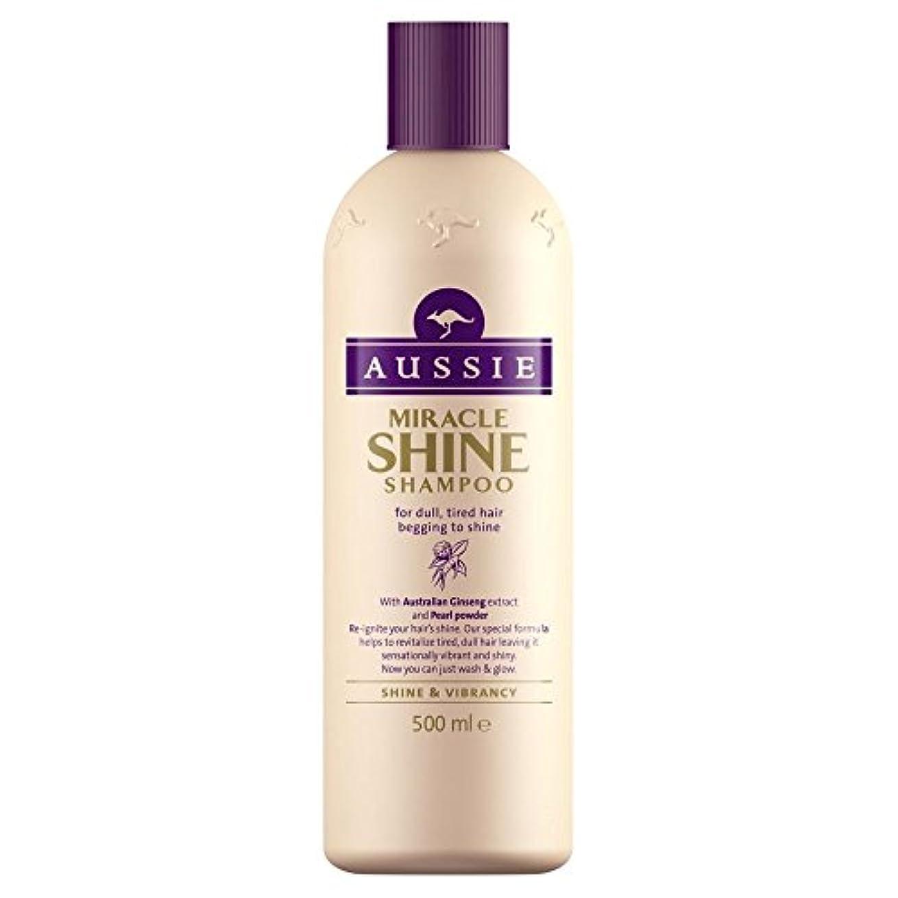 シロナガスクジラ特に見えるAussie Miracle Shine Shampoo (500ml) オージー奇跡の輝きシャンプー( 500ミリリットル) [並行輸入品]