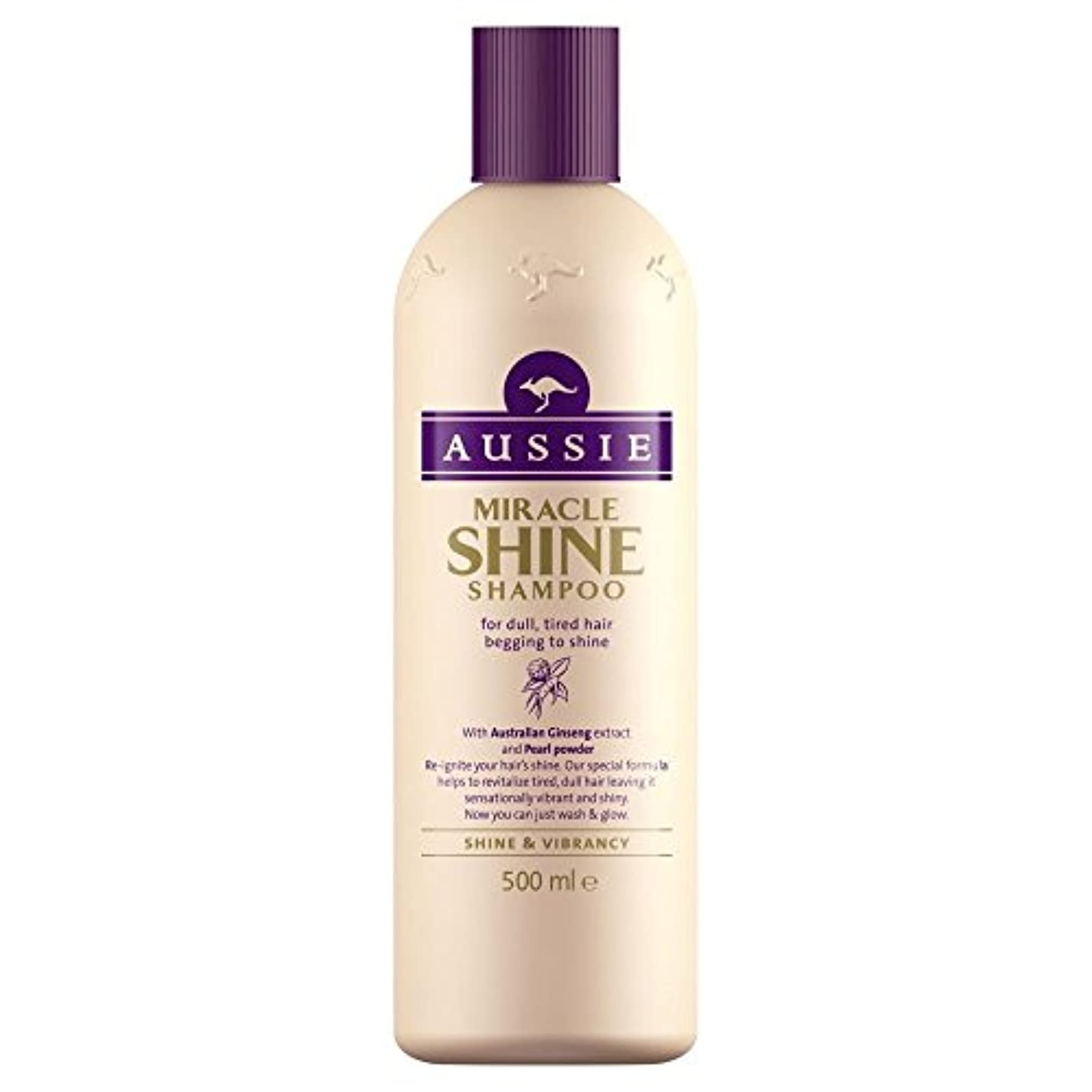 脊椎ネブおびえたAussie Miracle Shine Shampoo (500ml) オージー奇跡の輝きシャンプー( 500ミリリットル) [並行輸入品]