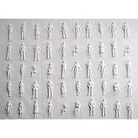 ジオラマ 模型 人 ミニフィギュア × 50 体 セット 1 : 50 1 : 75 1 : 100 1 : 150 1 : 200 1 : 300 (1/300)