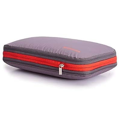 超便利旅行圧縮バッグ ファスナー圧縮で衣類スペース50%節約 軽量 出張 旅行 可変スペース 便利グッズ グレー