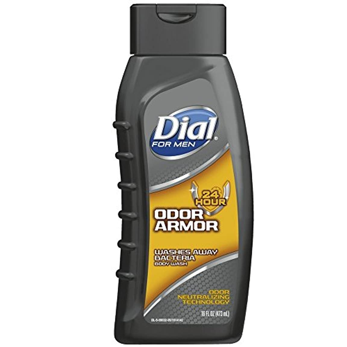 無効にする電圧ぞっとするようなDial 男性抗菌ボディウォッシュ、臭いアーマー16オンスのために