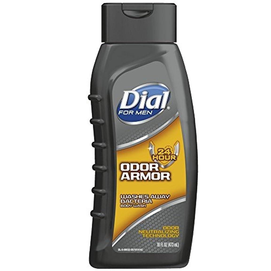 辞書賢明な病院Dial 男性抗菌ボディウォッシュ、臭いアーマー16オンスのために