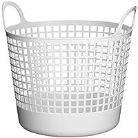 Like-it ラウンドバスケット LB-01-B (ホワイト)