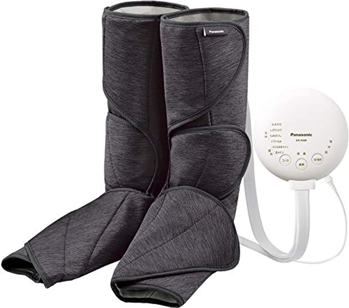 小人膜ショップパナソニック エアーマッサージャー レッグリフレ 温感機能搭載 ダークグレー EW-RA89-H