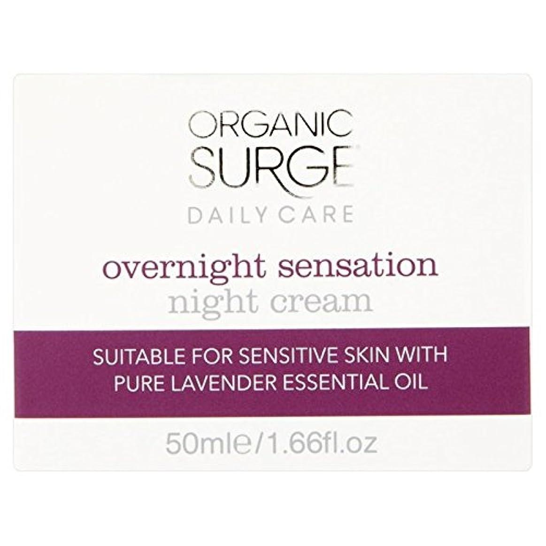 ひどく夏オン有機サージ一晩感覚ナイトクリーム50ミリリットル x2 - Organic Surge Overnight Sensation Night Cream 50ml (Pack of 2) [並行輸入品]