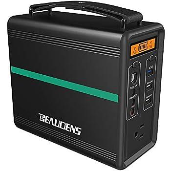【電池革命】Beaudens ポータブル電源 52000mAh/166Wh 革新LiFePO4電池採用 10年超長寿命 2000回充放電サイクル 小型軽量 AC(最大200W)DC/USB出力 QC3.0急速充電 三つ充電方法 LED電池残量表示 家庭用蓄電池 中泊 キャンプ 防災グッズ 停電対策 24ヶ月保証(B-1502)