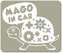 imoninn MAGO in car ステッカー 【マグネットタイプ】 No.53 カメさん (グレー色)