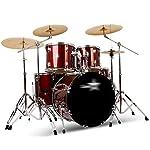 ドラム・パーカッション ドラム大人の子供のドラムセットの初心者5ドラム4ピースパーティードラムプロフェッショナルパフォーマンスパーカッション子供のおもちゃ (Color : Red, Size : 150*150cm)