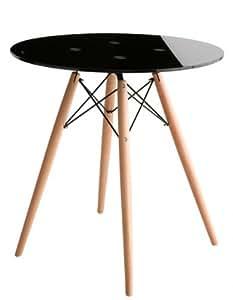 ミッドセンチュリーデザイン家具シリーズ Addinsell アディンセル/ブラックガラスカフェテーブル