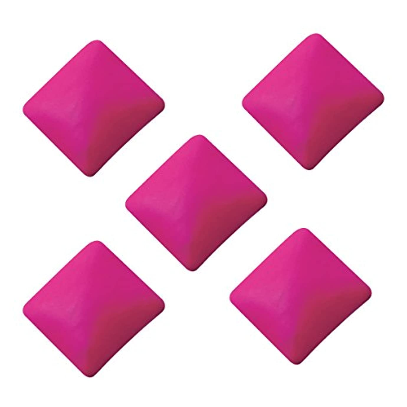 処理道徳の自己尊重ネオンスタッズ スクエア 3×3mm(100個入り) ピンク