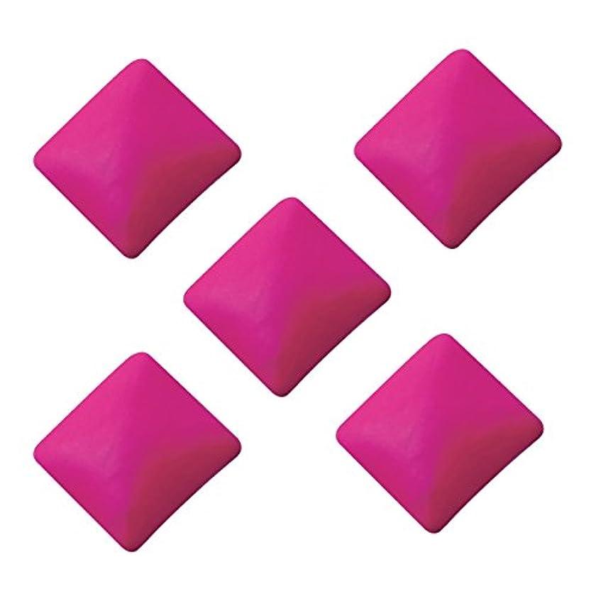 ジョガー野生素晴らしさネオンスタッズ スクエア 3×3mm(100個入り) ピンク