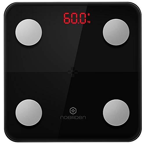 [ノエルデン] NOERDEN MINIMI Smart Body Scale 体組成計 Bluetooth スマホ連動 9種類データ 体重 体脂肪 基礎代謝 代謝年齢など グラフ表示 人数制限無し【日本正規代理店商品】 (ブラック)