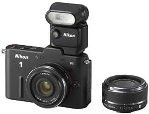 【まとめ買いでお得】Nikon ミラーレス一眼 Nikon 1 (ニコンワン) V1 スピードライトセットA ブラック