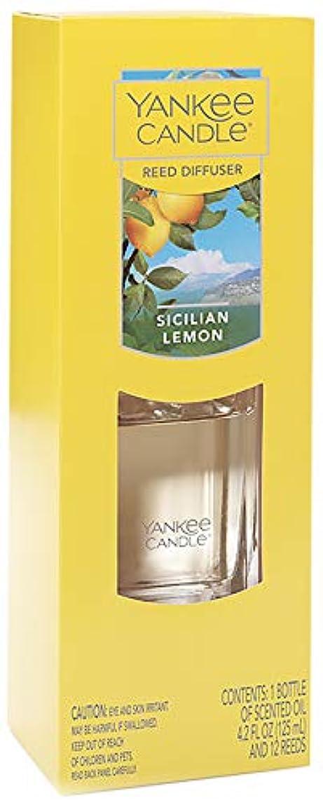 広い規則性ホイッスルヤンキーキャンドル スクエアリードディフューザー シチリアンレモン 1個