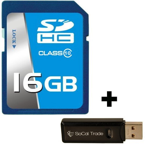 16GB SD HCクラス10SCTプロフェッショナル高速メモリカードSDHC 16G (16Gigabyte) メモリカードfor CanonデジタルカメラEOS 1100d 600d 1d Mark IV Kiss F x3x4x5x50Rebel t3t3i withカスタム書式SD & MicroSDカードリーダー