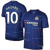 サッカー2019 チェルシーユニフォーム 上下セット HAZARD 背番号10 HAZARD 大人用 (大人,HAZARD) (L)