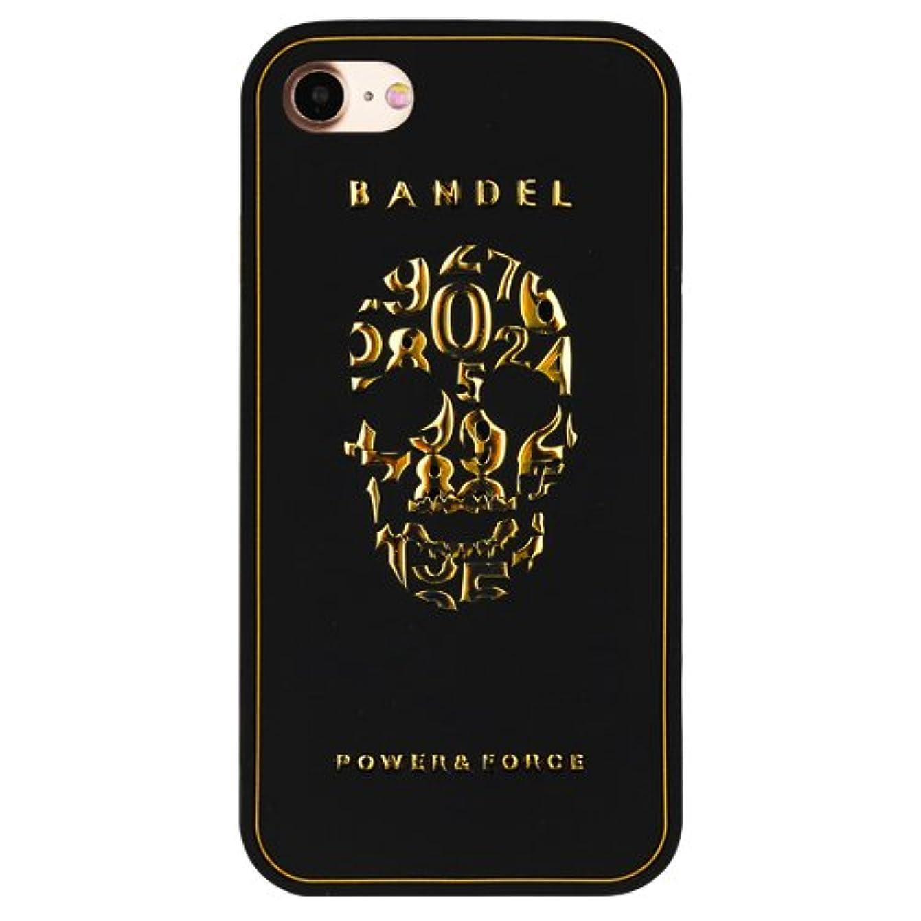 抹消ベル省略バンデル(BANDEL) iPhone7ケース スカル ブラック×ゴールド [iPhone7用シリコンケース]