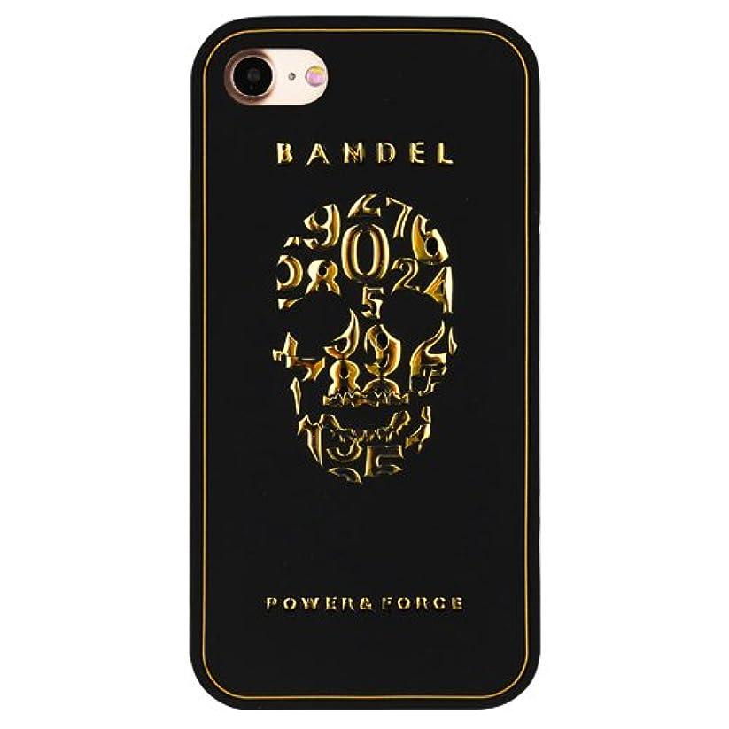 みすぼらしい疑い者可塑性バンデル(BANDEL) iPhone7ケース スカル ブラック×ゴールド [iPhone7用シリコンケース]