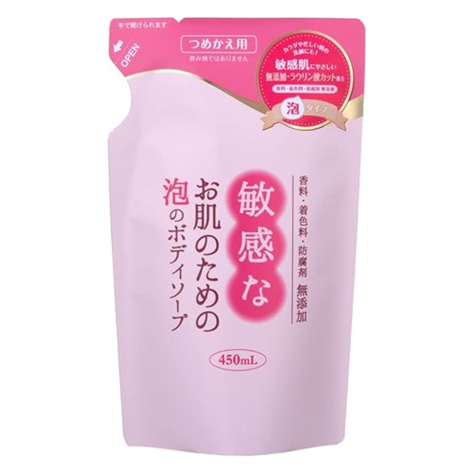例示するうがい反対する敏感なお肌のための泡のボディソープ 詰替 450mL CBH-FBR