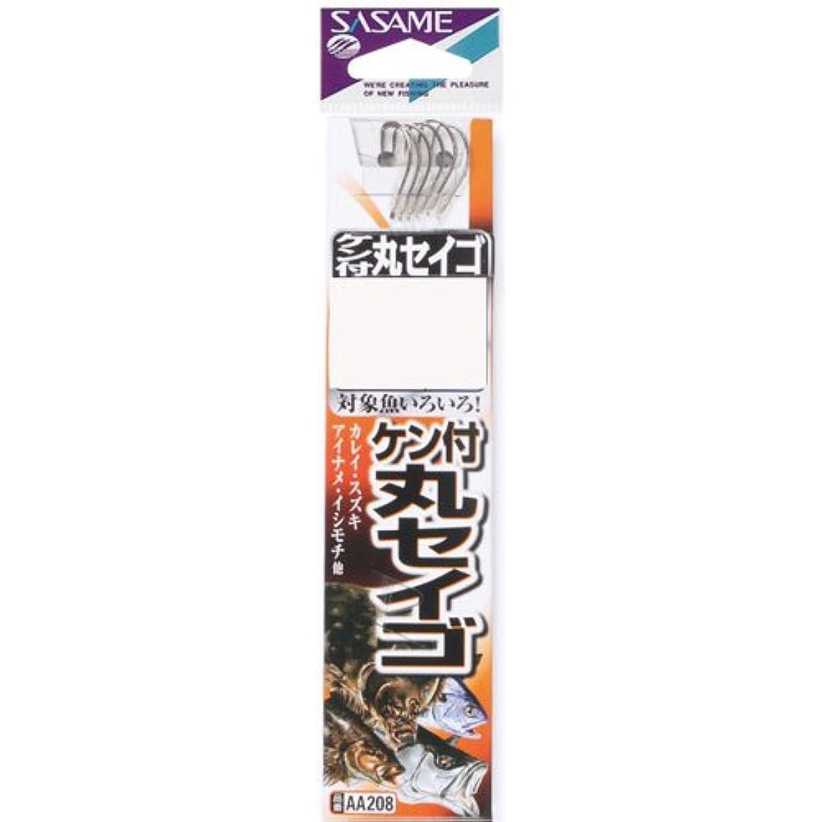 抑止する電極電極AA208 ケン付丸セイゴ(白)糸付 15-5