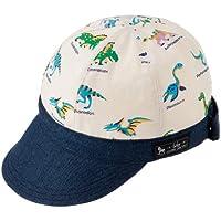 ベビー キャップ Sサイズ 赤ちゃん 帽子 日本製 恐竜王者が大集合(生成) B1900700
