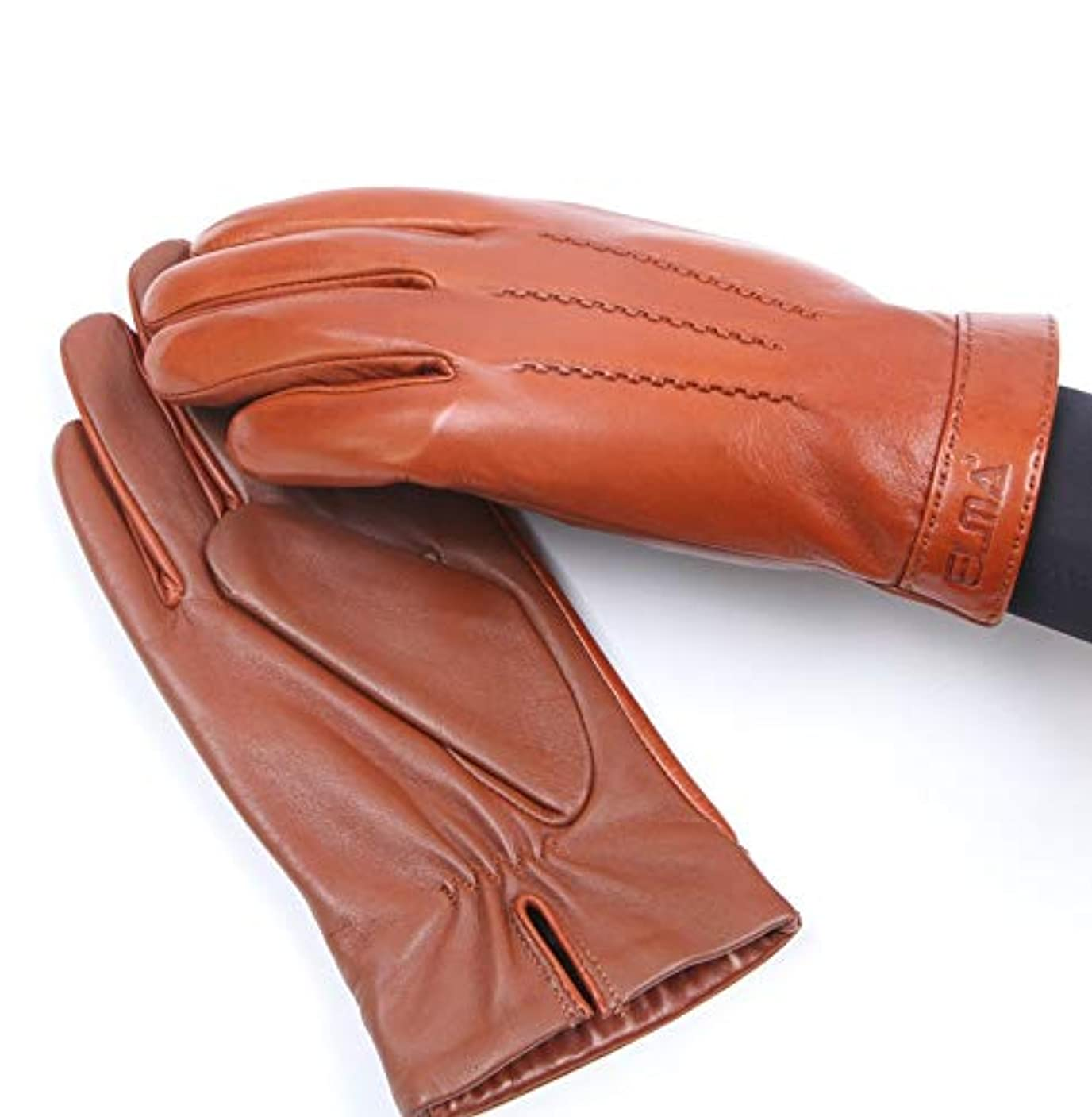 ソフトウェア突進ゆるいBAJIMI 手袋 グローブ レディース/メンズ ハンド ケア ファッションメンズレザーグローブプラスベルベット暖かいフルタッチグローブ運転 裏起毛 おしゃれ 手触りが良い 運転 耐磨耗性 換気性
