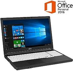 【セキュリティセット・MS Office搭載】富士通 LIFEBOOK A576/SX FMVA2404KP Windows10 Pro 64bit Core i3 8GB 500GB DVDスーパーマルチ 高速無線LAN IEEE802.11ac/a/b/g/n Bluetooth 10キー付日本語キーボード 15.6型液晶ノートパソコン ESETセキュリティソフト1年版同梱 (MS Office Personal 2016搭載)