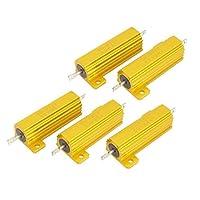クリニーク電気50W 6オーム5%の許容差抵抗抵抗器ゴールドトーン