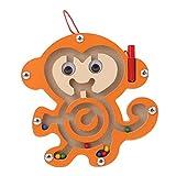 EDUCA 知育玩具 木製 マグネット 迷路 動物 (サル)