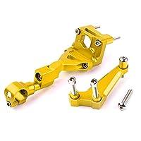川崎オートバイz300調整ステアリングスタビライザーダンパーブラケットcncアルミ合金キットオートバイアクセサリー,Gold