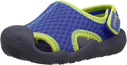 CROCS スウィフトウォーター サンダル キッズ 204024 204024 Blue Jean Navy 18 cm