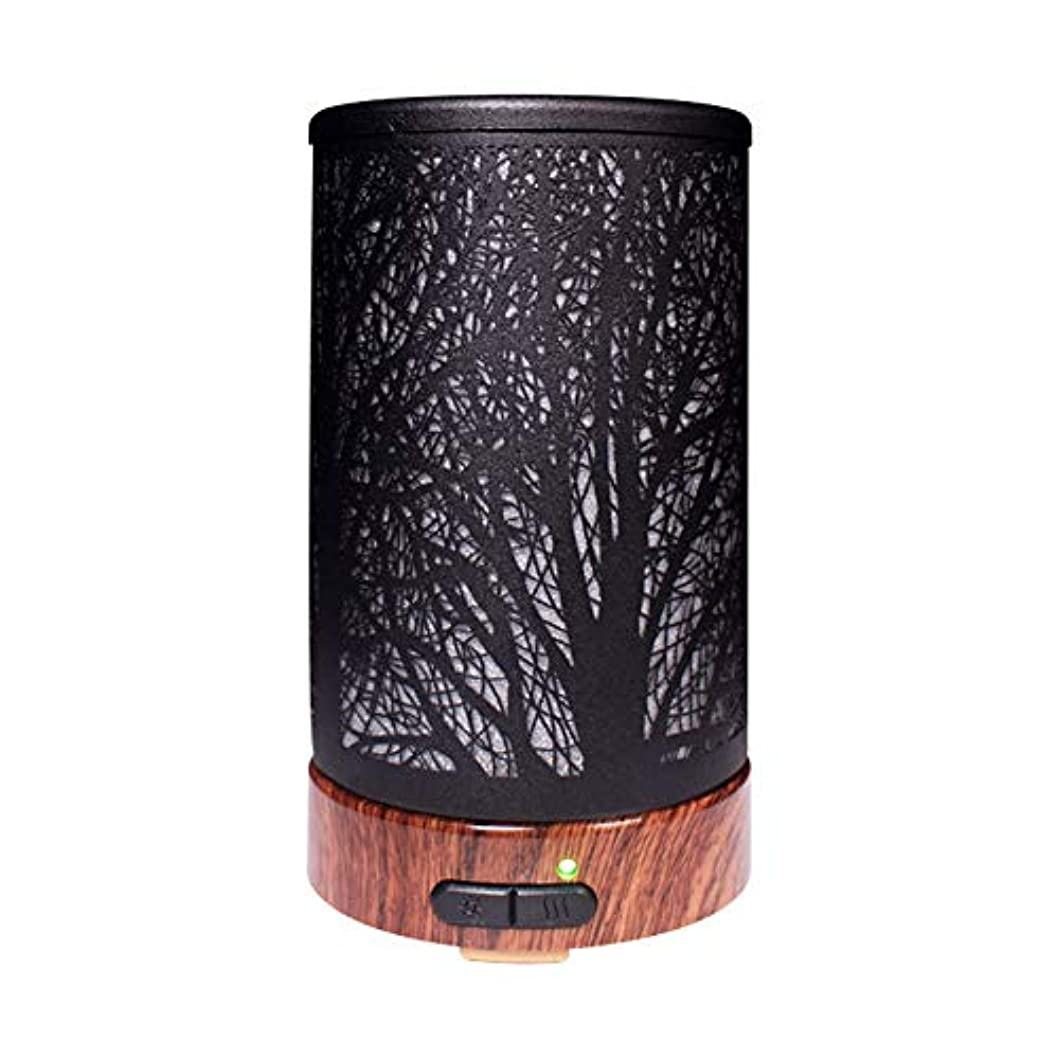 グラス給料多様性エッセンシャルオイルディフューザーと加湿器、ミストエッセンシャルオイルアロマ加湿器用の超音波アロマディフューザー、7色LEDライト